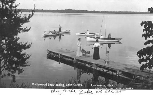 Lake Carlos - Maplewood Landing 1907